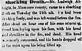 shocking death notice