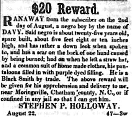 slave runaway reward 1